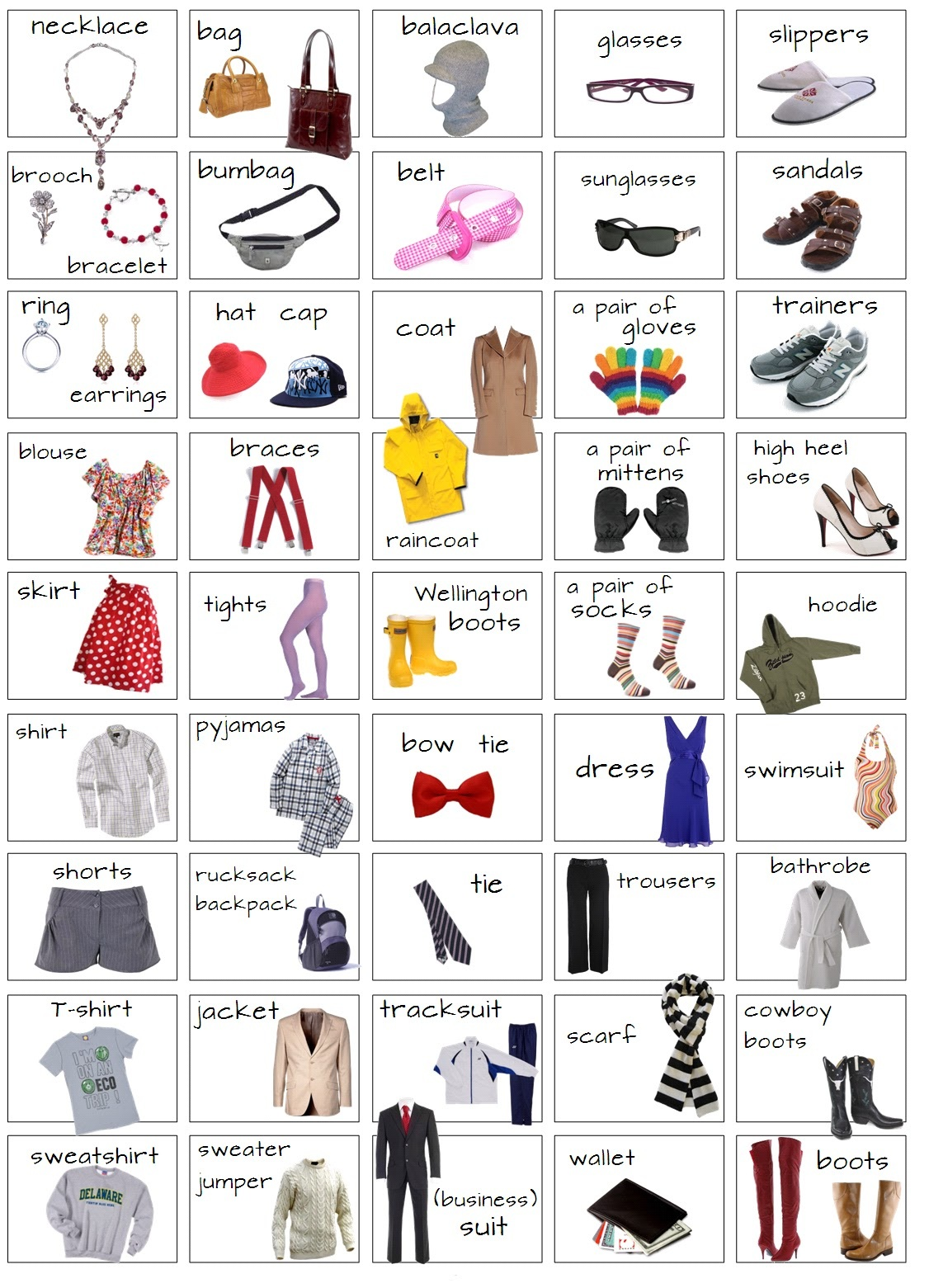 Clothes English4fun